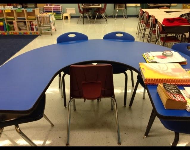 Horseshoe Classroom Design ~ Teaching my friends reading tables horseshoe or kidney