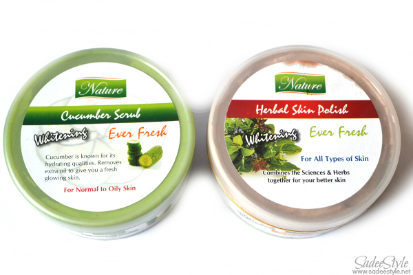 Saeed Ghani's Skincare Herbal  Cucumber Scrub & Herbal Skin Polish