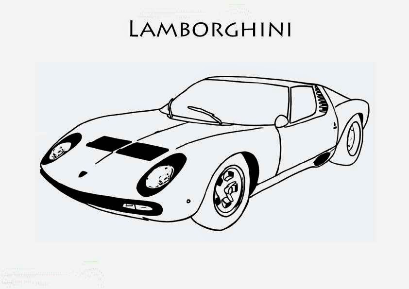 coloriage de voiture de lamborghini coloriage voiture. Black Bedroom Furniture Sets. Home Design Ideas