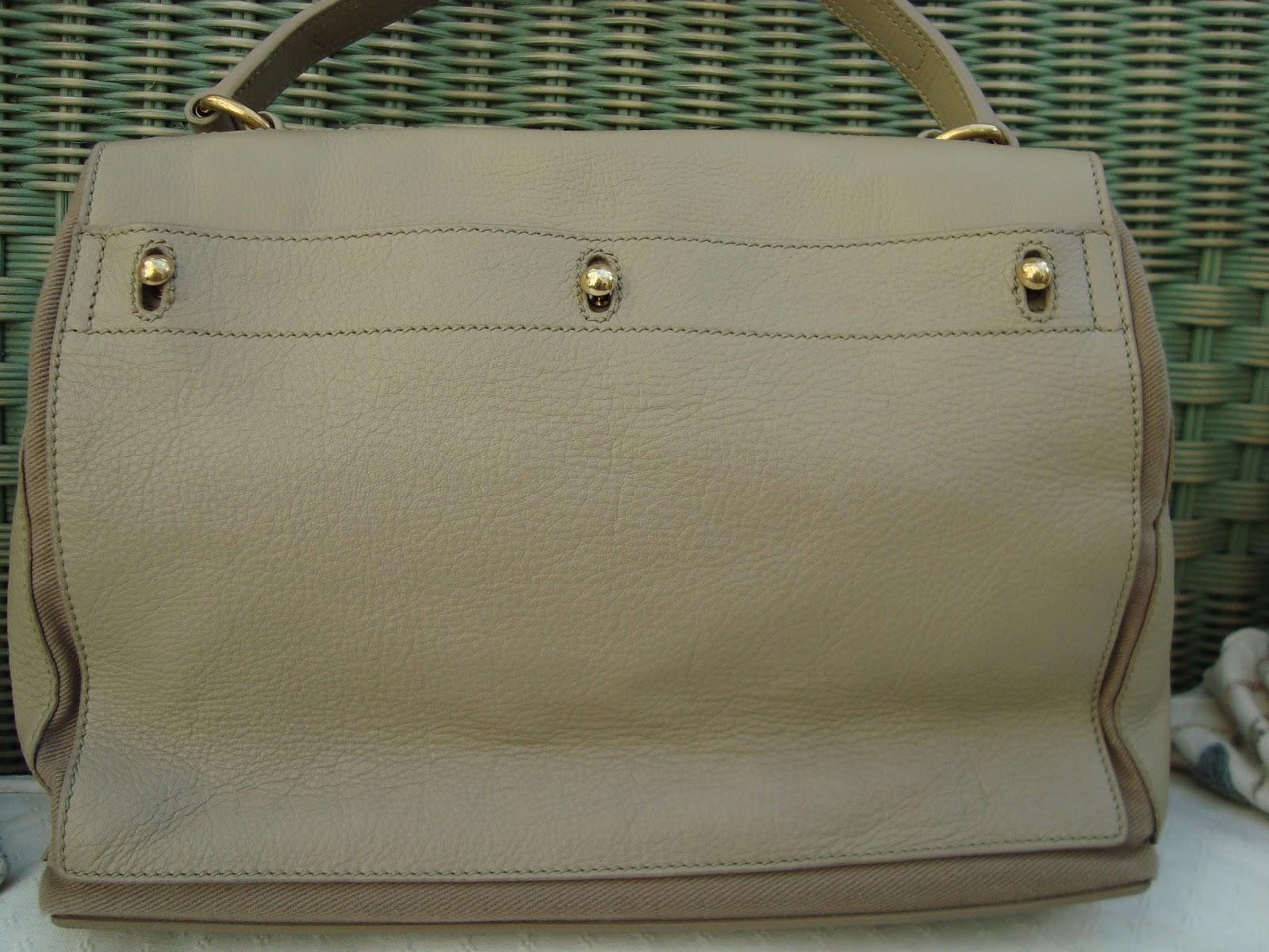 ysl ecru suede handbag