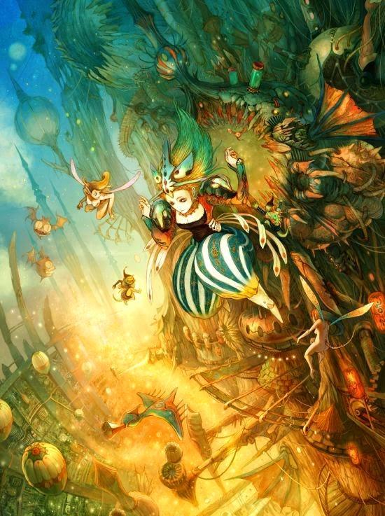 Kyoung Hwan Kim tahra deviantart ilustrações fantasia