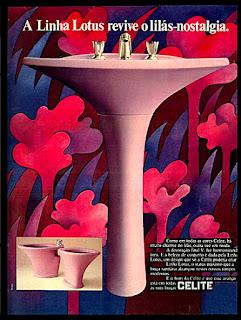 Celite, pia, vaso sanitário, bidê, os anos 70; propaganda na década de 70; Brazil in the 70s, história anos 70; Oswaldo Hernandez;