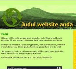 MAU WEB GRATIS SESUAI SELERAMU SENDIRI
