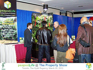 PeapodLife's Booth at Property Show Toronto 2013, photo by Olga Goubar
