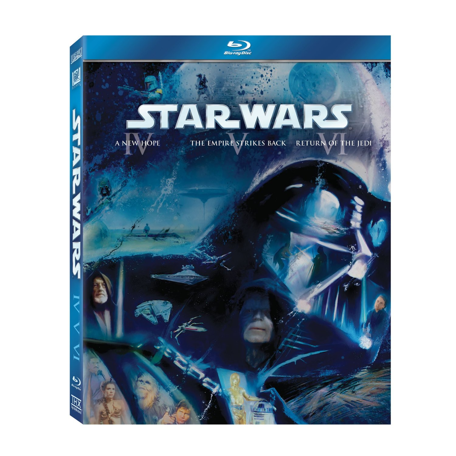art covers for 39 star wars 39 blu ray released. Black Bedroom Furniture Sets. Home Design Ideas