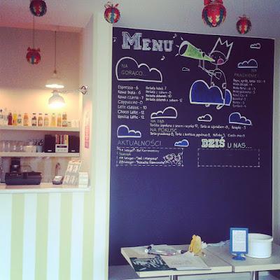 Projekt menu ściennego dla kawiarni Hamak we Wrocławiu