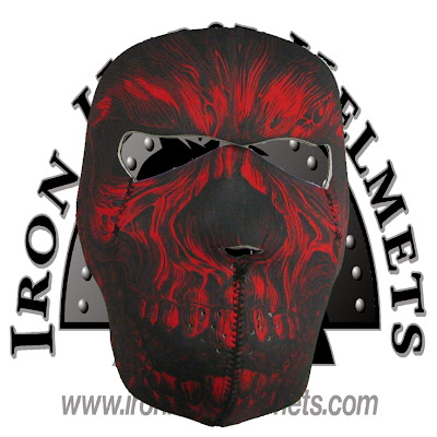 Red Shredder Neoprene Face Mask