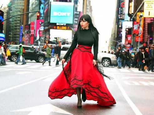 Ingrit Gjoni on the Streets of New York