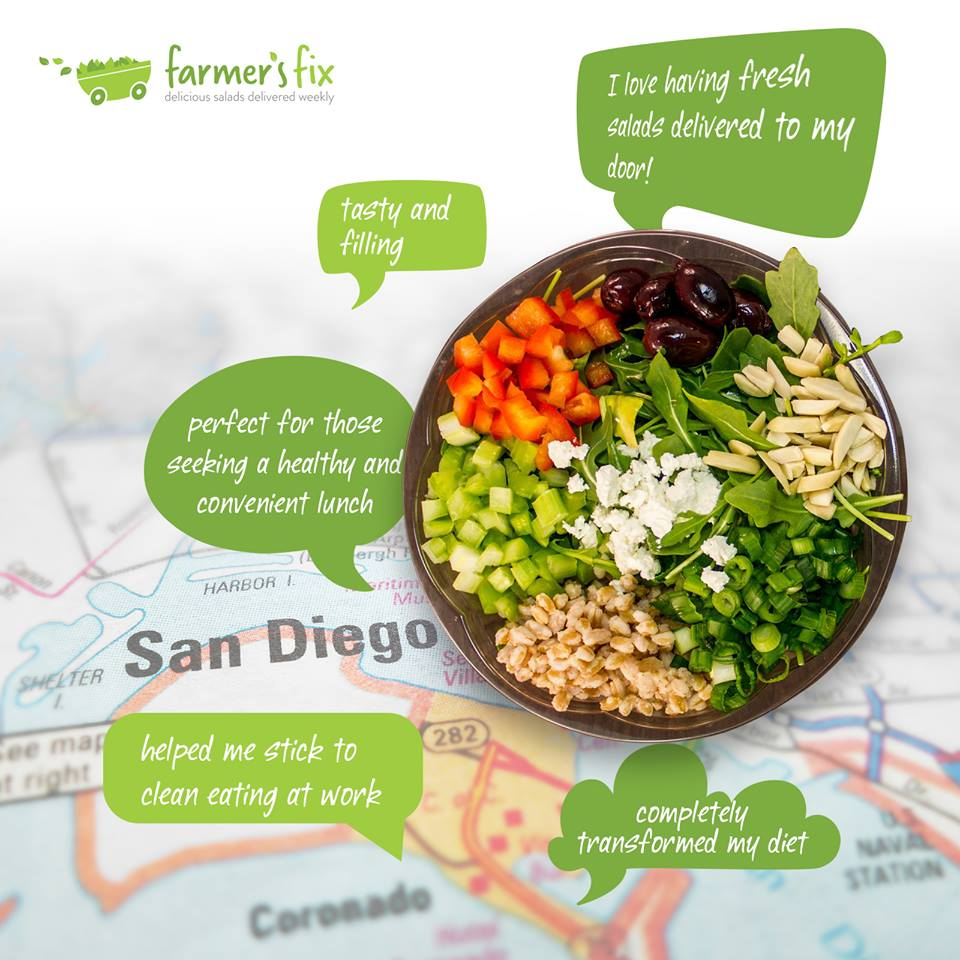 Save 25% On Your First Farmer's Fix Salad Delivery Order With Promo Code SDVILLE