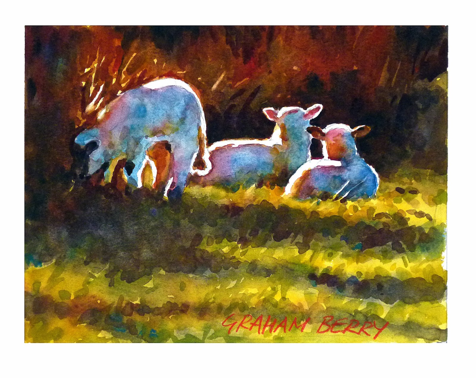 Fine watercolor art for sale - Sunday 19 January 2014
