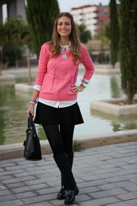 fashion_blogger_blog_style_moda_tendencia_it_girl_falda_zara_rosa_sheinside_botas_agua_outfit