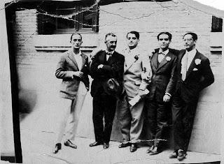 Salvador Dali, Jose Moreno Villa, Luis Bunuel, Federico Garcia Lorca, Jose Antonio