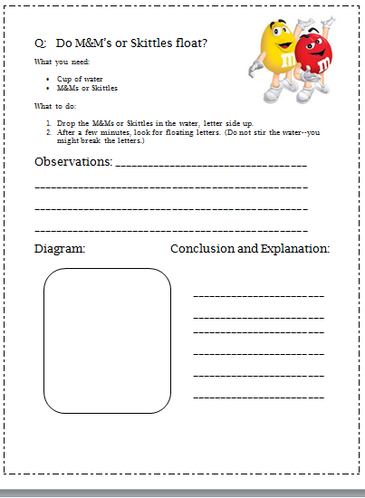 Science Experiment Lab Sheet on erosion worksheets 4th grade