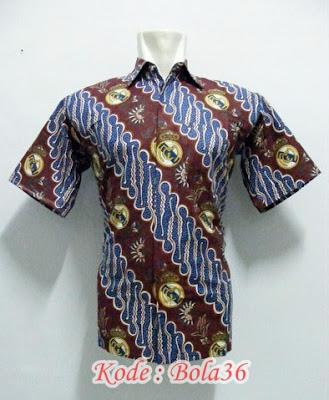 kemeja batik real madrid