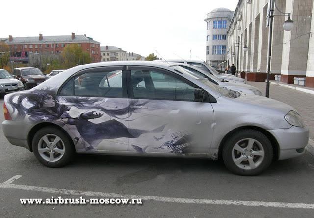 аэрография на автомобиле, на авто, airbrush, тюнинг, эксклюзивная аэрография в москве, авто-аэрография, автоаэрография