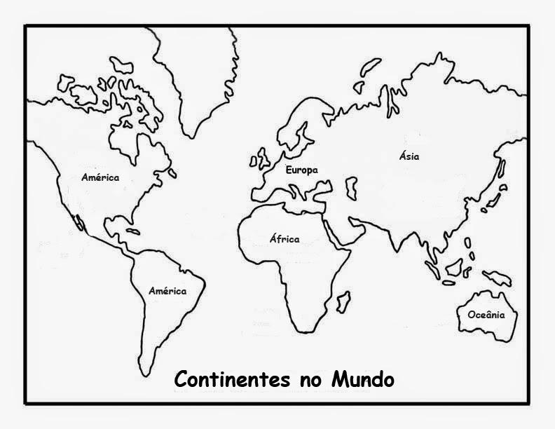 Desenhos para Colorir e Imprimir: Desenho para Colorir – Mapa Mundo ...