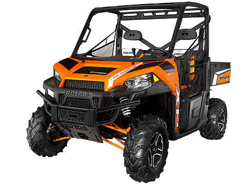 2013 Polaris Ranger XP900 Orange Madness LE ATV pictures. 480x360 pixels