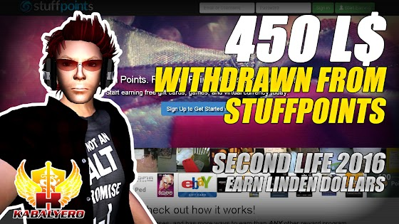 Withdrew 450 Linden Dollars From StuffPoints, Earning Linden Dollars In Second Life