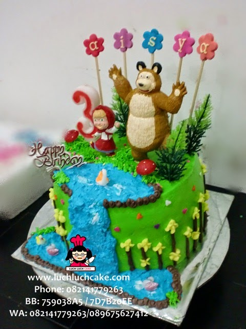 kue tart masha and the bear murah dan lucu