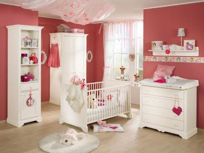quarto para bebê, menina, simlpes