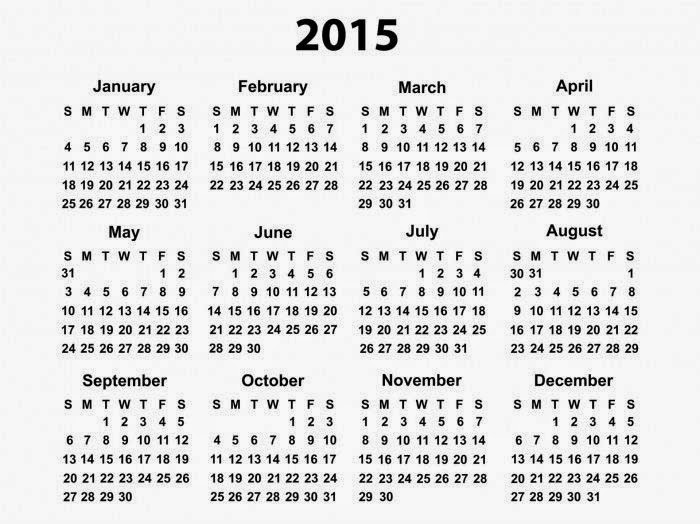 Top Class New Year 2015 Calender