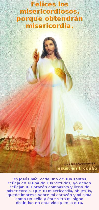 mensajito de jesus misericordioso con oracion