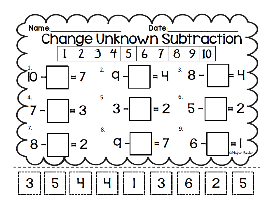 Engage New York Subtraction Anchor Chart on Creativity Worksheets Kindergarten