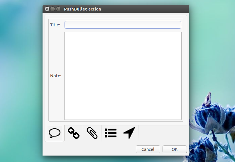how to send files pushbullet