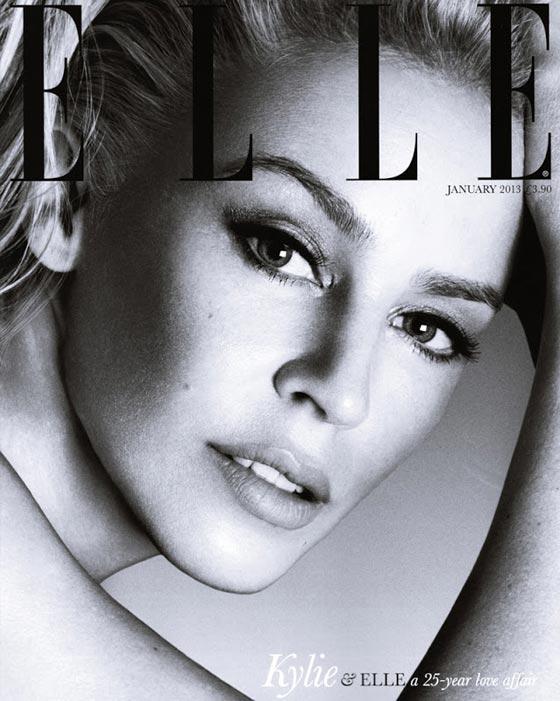 Kylie Minogue Elle UK january 2013