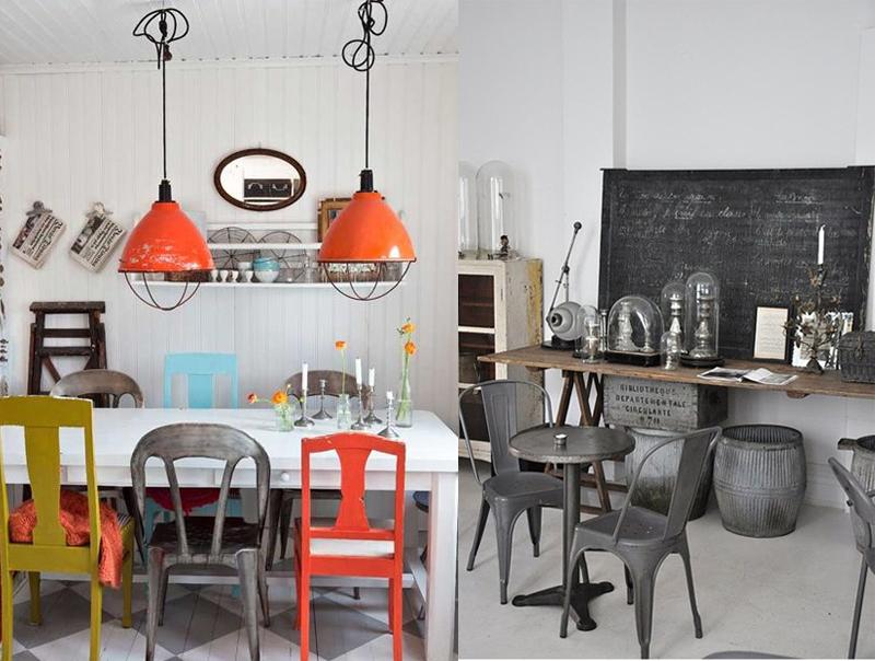 Cl sicos del dise o industrial la silla tolix una pieza for Sillas de cocina modernas