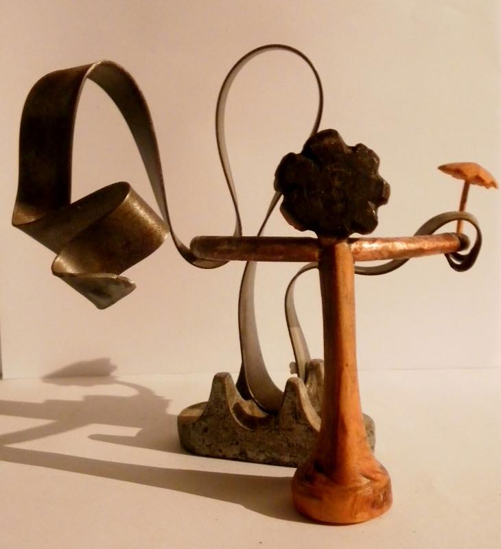 """Sculpture bois et métal """" la Valse"""" par Ama sculpteur"""