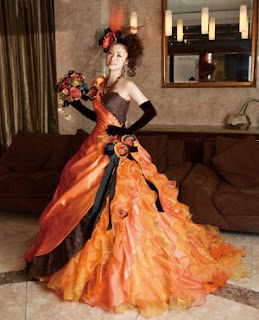 Popular Colors for Gothic Wedding Gowns