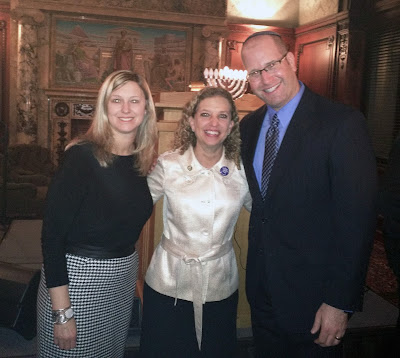 Rabbi Jason Miller and Elissa Miller with Rep. Debbie Wasserman Schultz