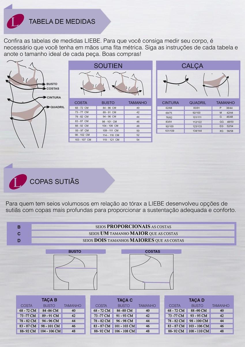 Tabela de medidas para descobrir o tamanho correto da lingerie!