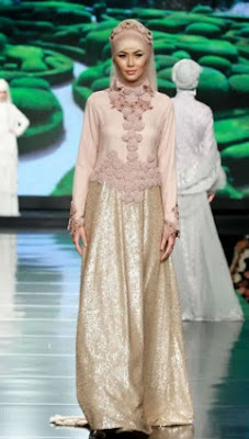 contoh  hijab dress etnik modern 2016