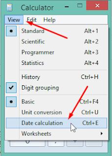 pilih date calculation