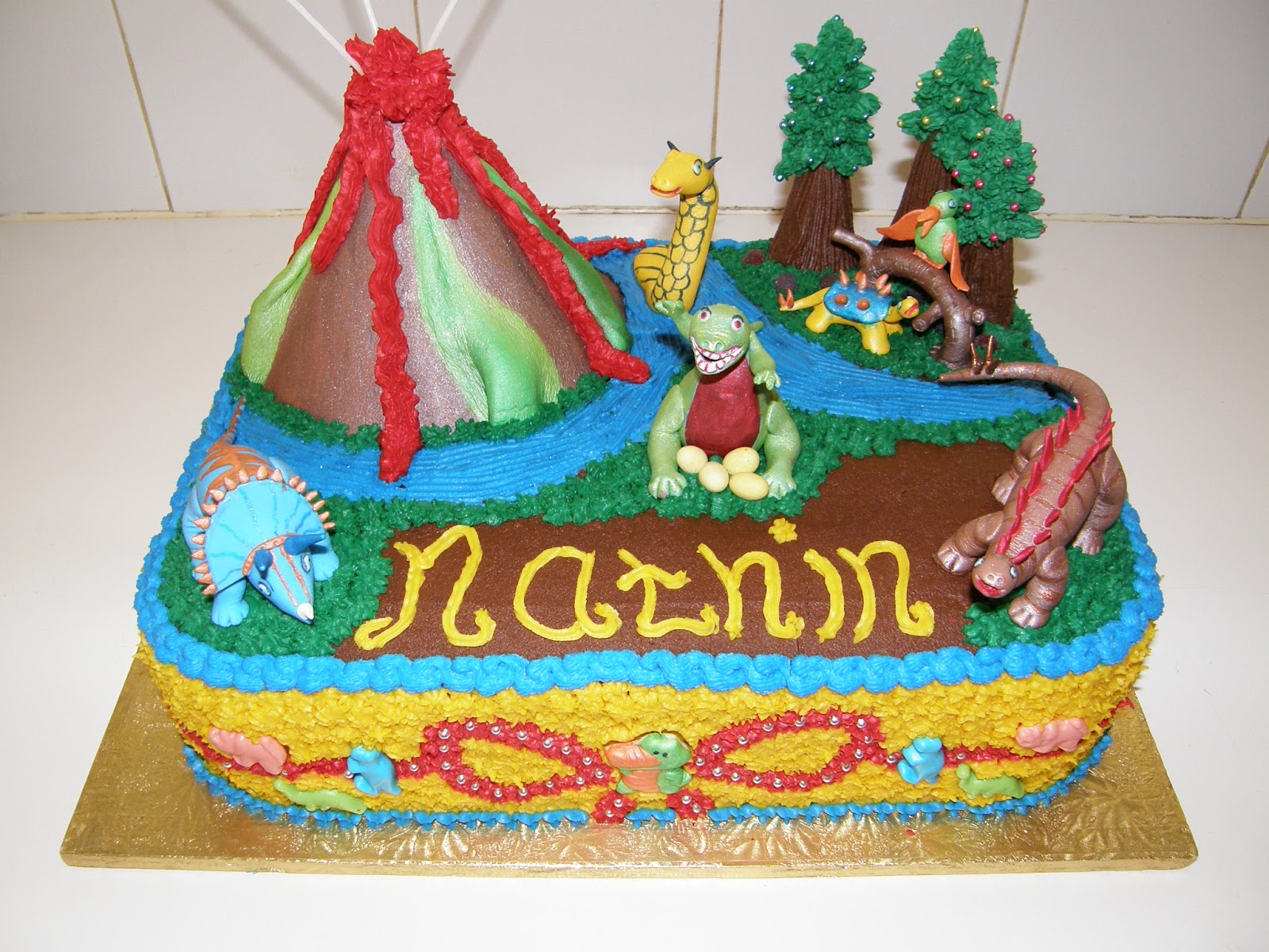 Its My Party Dinosaurs Birthday Cake