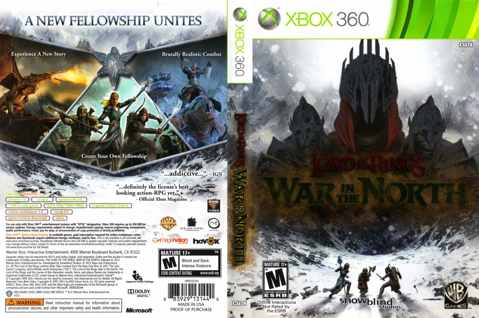 Capa The Lord Of The Rings War In The North XBOX 360