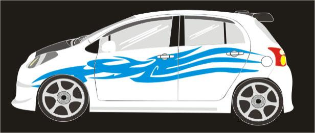 Tribal Honda Jazz Sticker DesignBest Popular Car Sticker