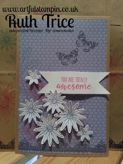 Artful Stampin Up Ruth Trice Card Craft paper Grateful Bunch Birthday
