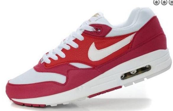 new styles 1c947 7b1de Nike Air Max 1 Herr Röd Svarta Sport Skor