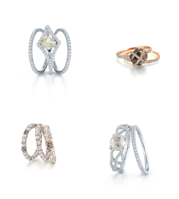Diamond in The Rough unique engagement rings