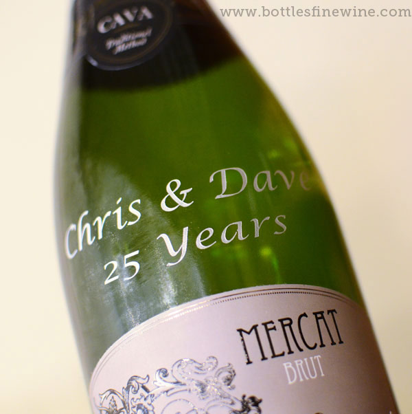 Champagne bottle custom engraved