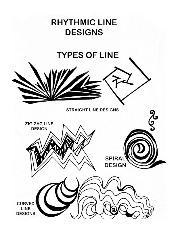 Straight Line Designs Art : Types of lines in design images