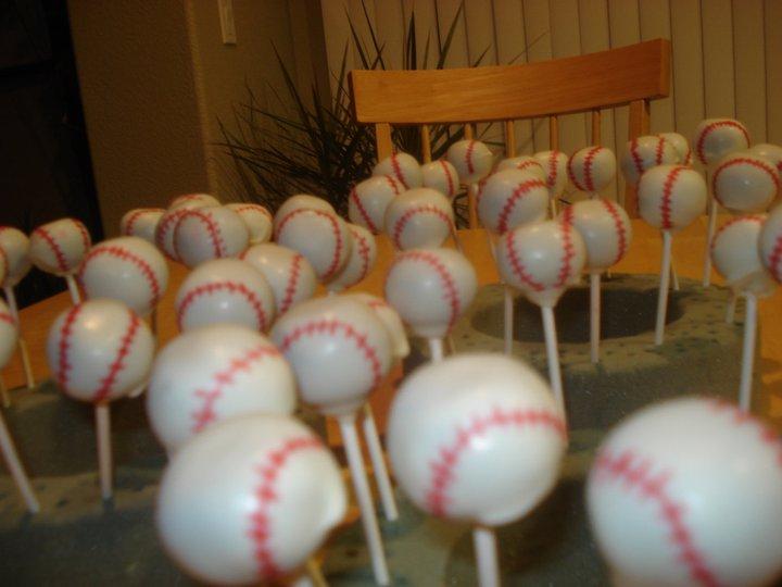 my little pony cake pops. Baseball Cake Pops