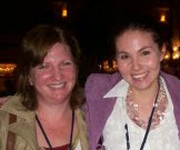Marjorie Liu and Clover Autrey at WorldCon 2006