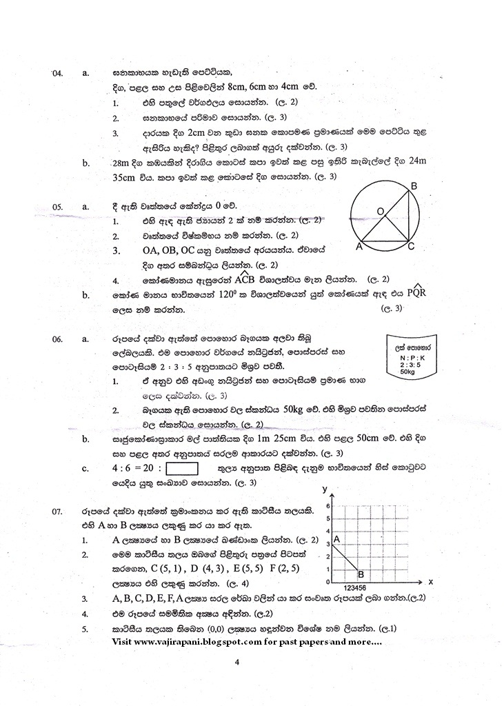 math worksheet : past papers grade 7 : Grade 9 Science Exam Papers Sri Lanka