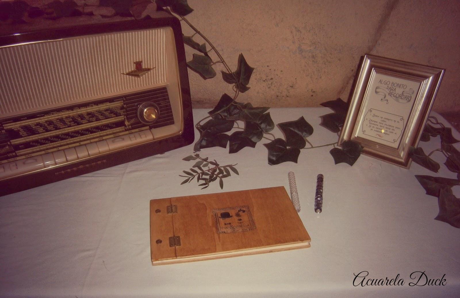Libro de firma madera