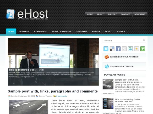 eHost Blogger Template