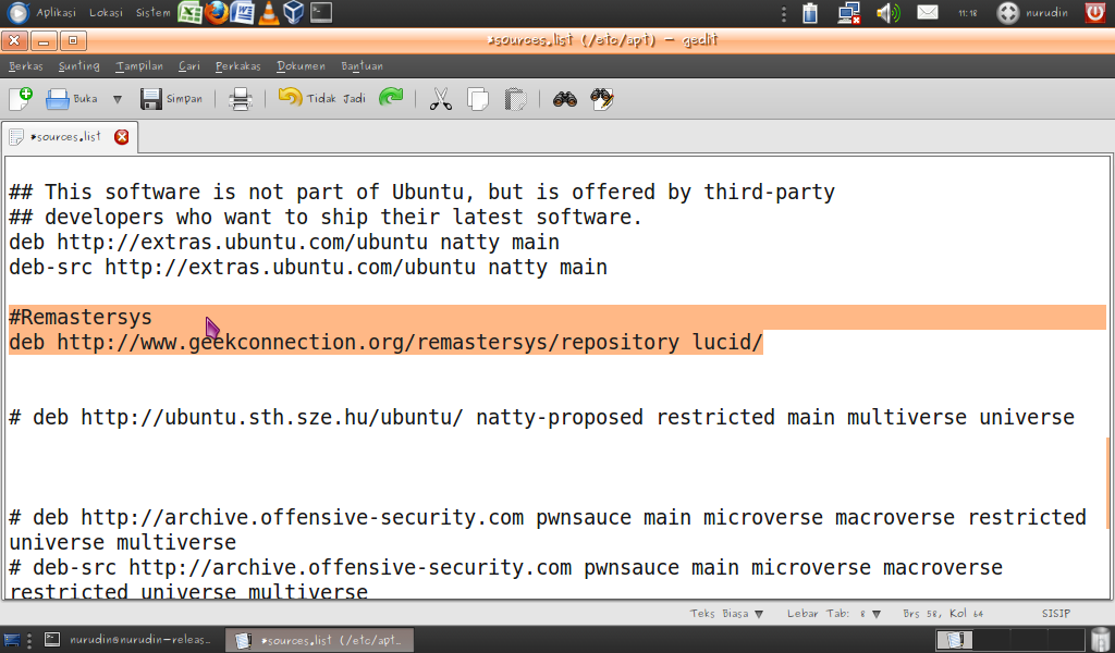 Cara Install Remastersys Di Ubuntu GITO ARJUNA